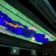長大トンネルが多い路線環境を活かした、「プラネタリウム電車」。新幹線でもやって欲しい…