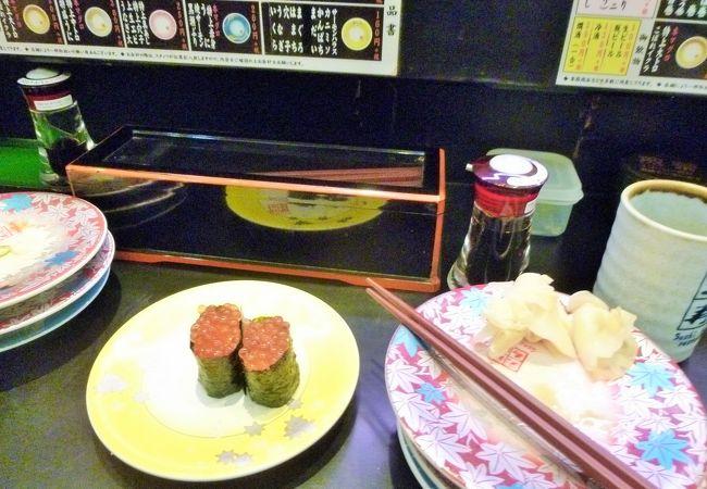 人気の回転寿司店