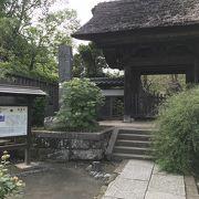 江ノ電からすぐの極楽寺、静かでいいところ