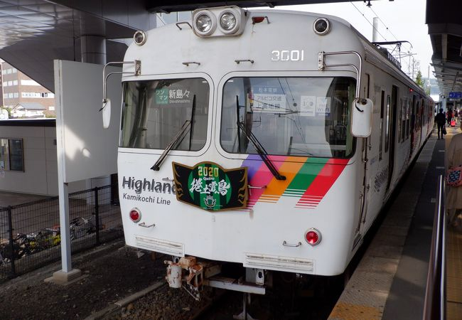 アルピコ交通 上高地線 観光案内電車