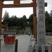 宇都宮の中心に位置する大きな神社