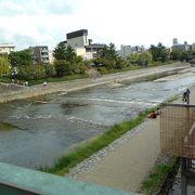 京都の街中を流れる