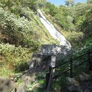 落差が無く迫力には欠けまずが綺麗な滝でした。