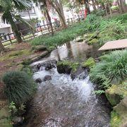 綺麗な滝が流れる公園です