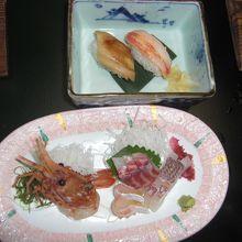 お造りとお寿司