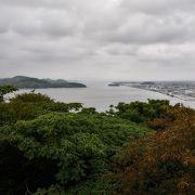 中海と日本海が両方臨める。