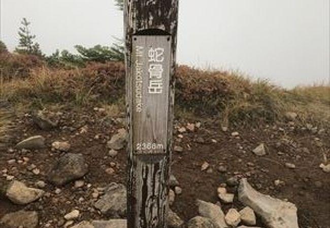 高峰高原ホテルから登山口があり、そこから登りました。槍がさや、ドーミーの耳、黒斑山を通って登りました。登山口から約3時間でした。本来は浅間山を一望できるはずです