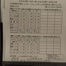 稚内空港からの時刻表がありフェリー乗り場の次に停まります