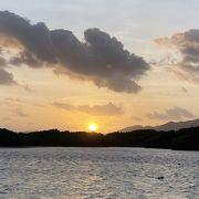 ビーチから眺める日の出