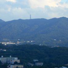 ホテル6F部屋からの八重岳