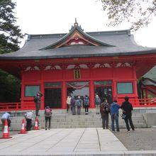 赤城神社(大沼湖畔)