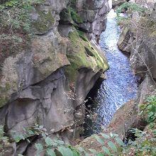 奇面巌(きめんいわ)と名付けられたのは、あの苔が生えた岩?