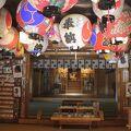 蓬平温泉近くの神社