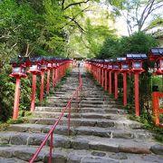 有名な灯篭階段