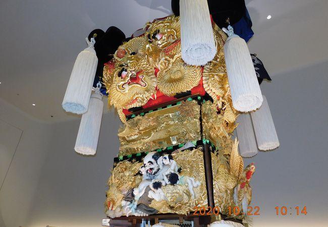あかがねミュージアム  新居浜たいこ祭りの布団太鼓(本物)が展示されています。