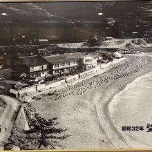 昔のホテルと海
