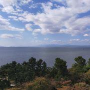 琵琶湖が一望