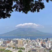 鹿児島市内、どこからも見えました!