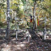 川俣ダム近くの愛宕山神社の敷地内
