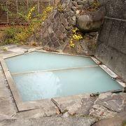 野趣あふれる混浴の露天風呂あり