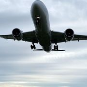 ド迫力の飛行機