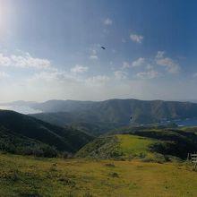 摩天崖から国賀海岸方向。