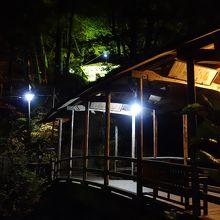 文殊堂の手前にある五台橋 夜ver
