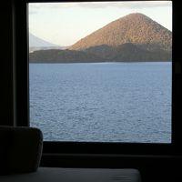 客室からの洞爺湖の素晴らしい眺め