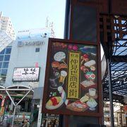 熱海駅から続くアーケード街