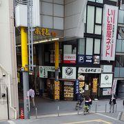昼時の駅前商店街
