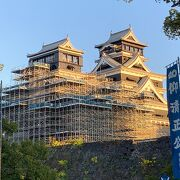 復旧中の熊本城