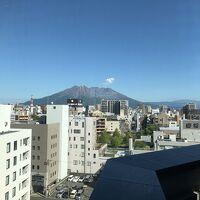 フロント階からみえる桜島。