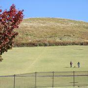 芝生のような山