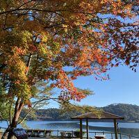 キャンプサイトから御池の風景