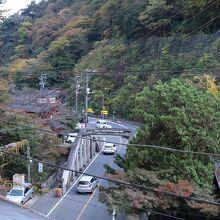 塔ノ沢駅近くから見下ろしたところ