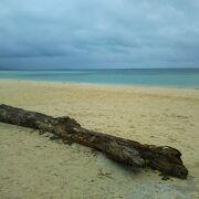 きれいな砂浜。
