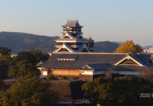 14階展望ロピーから熊本城がよく見える