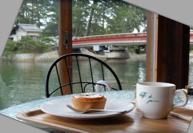 天橋立 運河沿いのカフェ