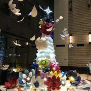 クリスマスツリーは3階に展示
