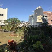 屋上には庭園