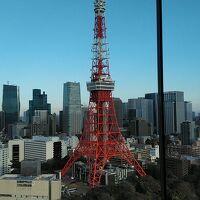 最上階のスカイラウンジからの東京タワー