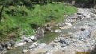 白石と川の流れがステキです
