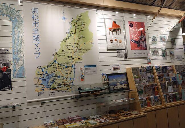 浜松市全域マップがタペストリー風に掲げられていました