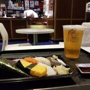 羽田空港12番搭乗口前のお寿司やさん