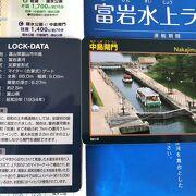 中島閘門カードを頂きました