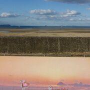 ウユニ塩湖のような写真が撮れるというので一躍、通年の名所に