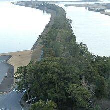 揖斐 長良川の背割提(全長約8km)