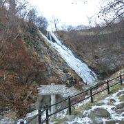12月のオシンコシンの滝は美しい