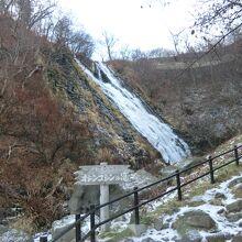 雪と滝の素晴しさ