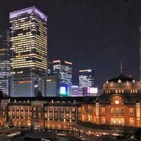 ステーションホテルを丸ビルから眺める